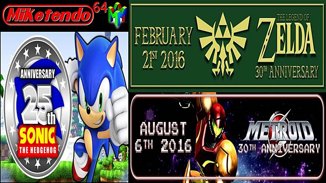 2016 a year of anniversaries miketendo64 by gamers for gamers