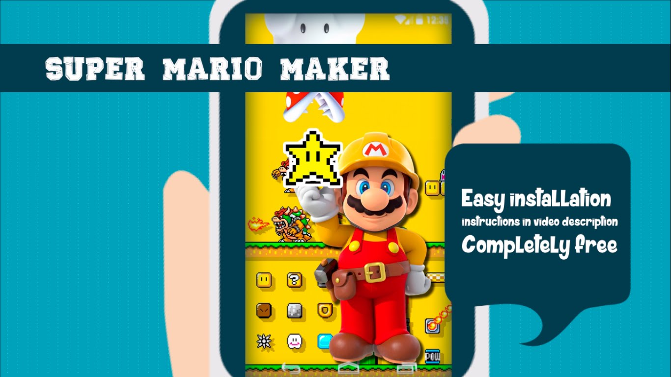 The Super Mario Maker Wallpaper