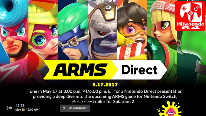 everything arms complete may 2017 nintendo direct details
