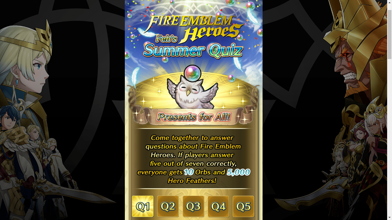 Feh Summer Quiz