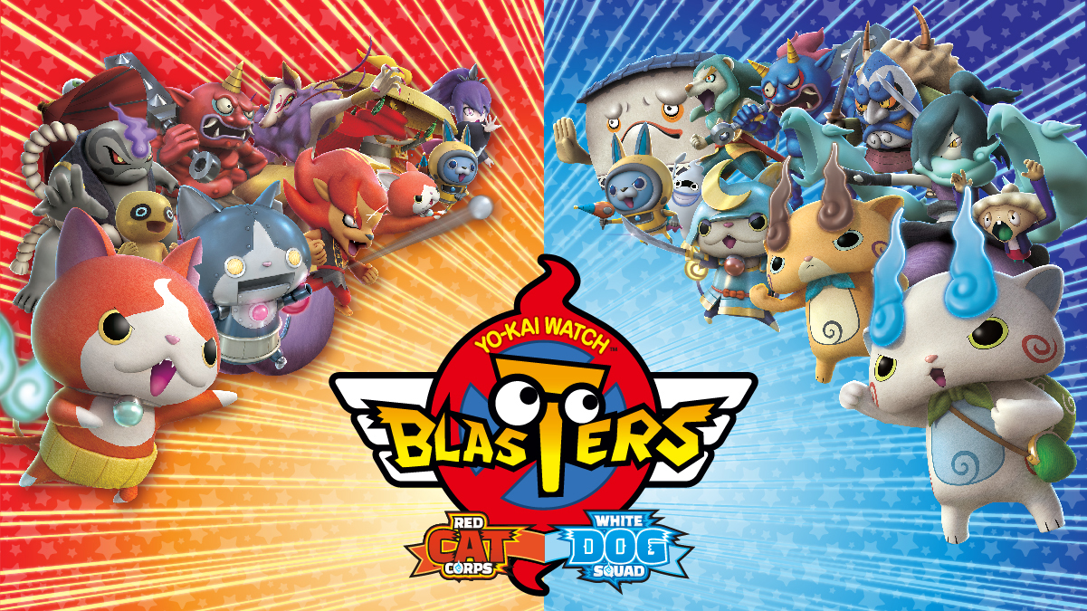 3ds review yo kai watch blasters red cat corps white dog squad