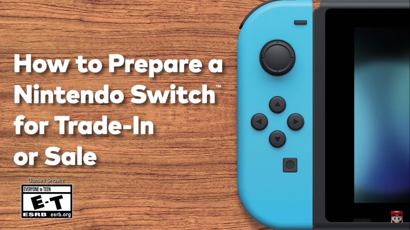 Prepare Your Nintendo Switch For Trade-In