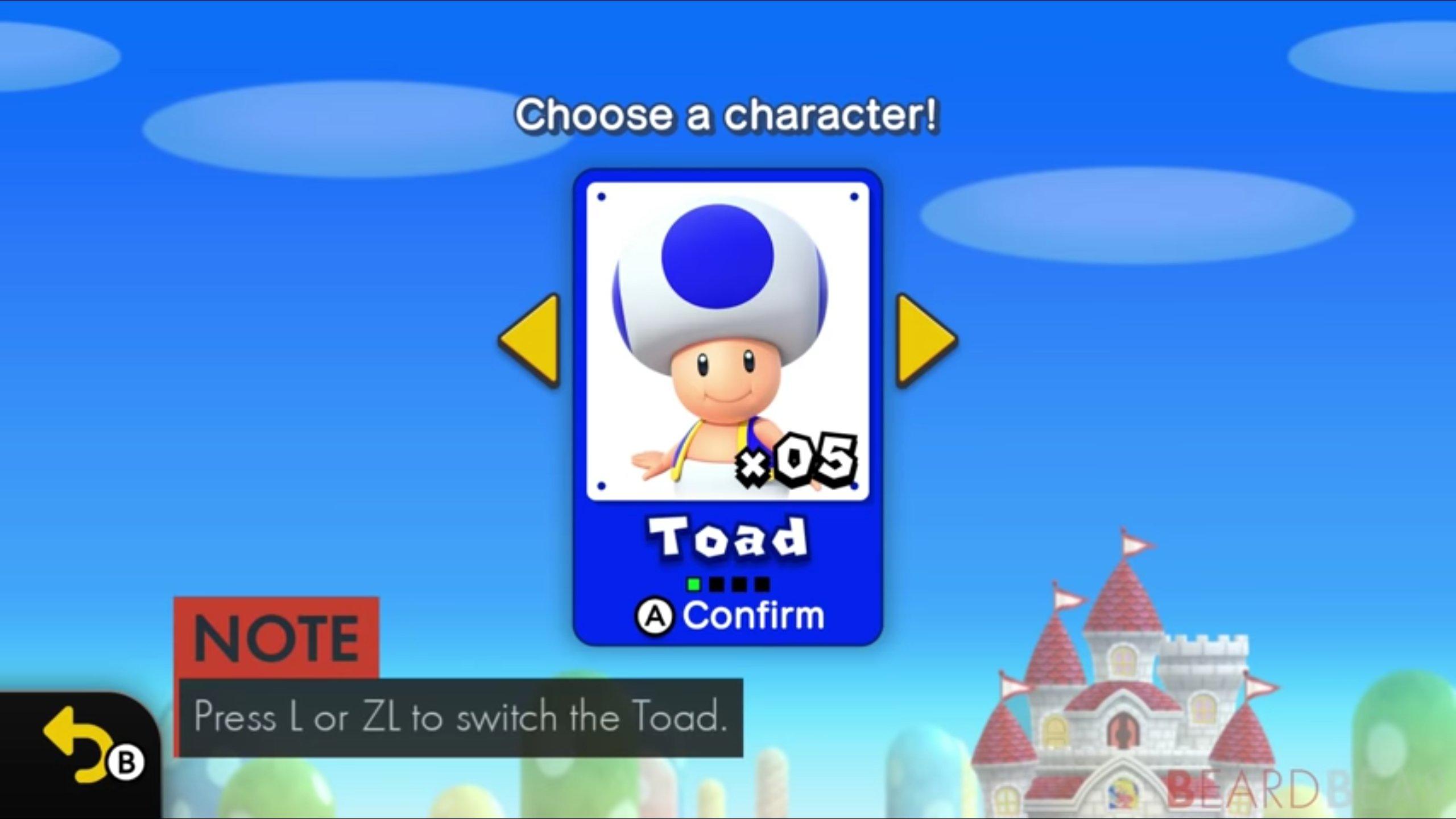 Surprise! Blue Toad is in New Super Mario Bros  U Deluxe