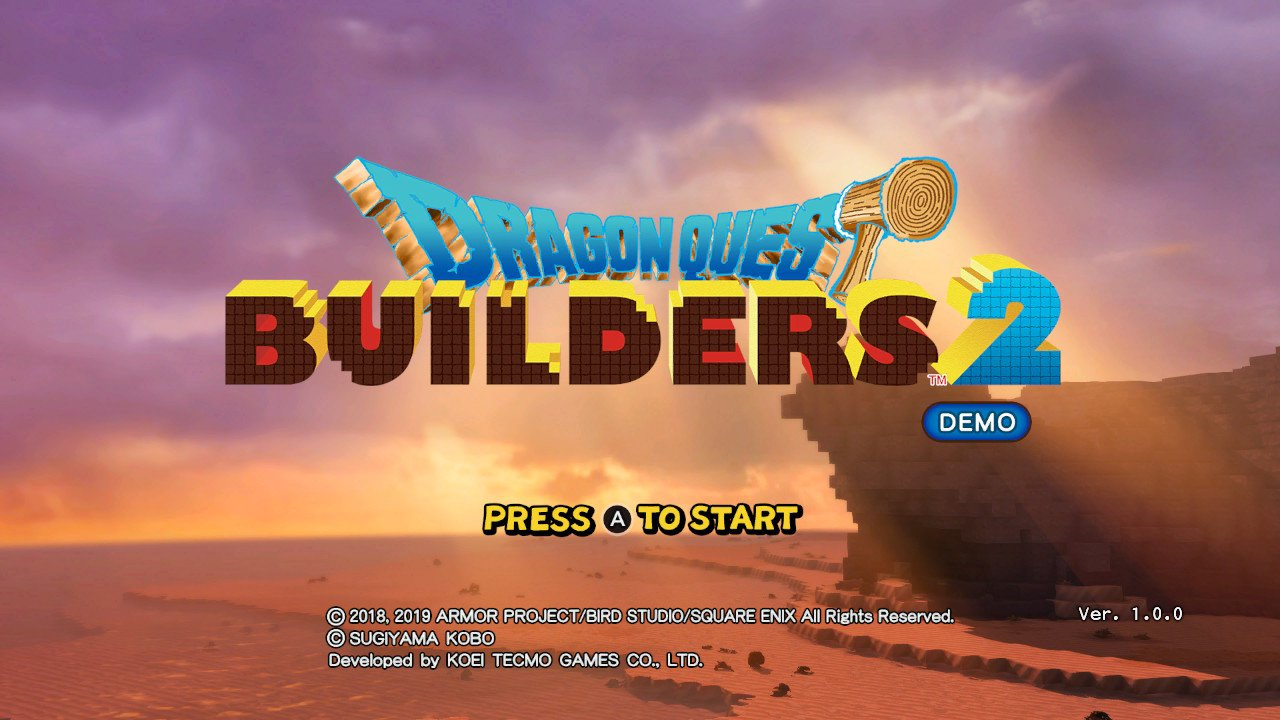 Dragon Quest Builders 2 Demo Gameplay