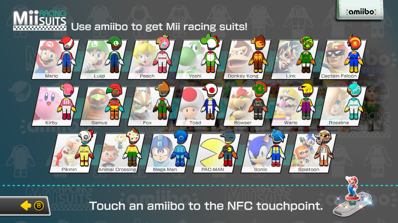 Mii Racing Suits