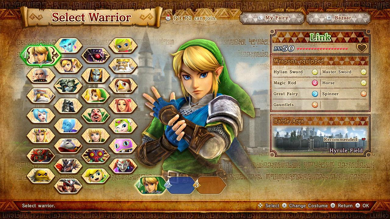 Hyrule Warriors Definitive Edition Character Unlocks