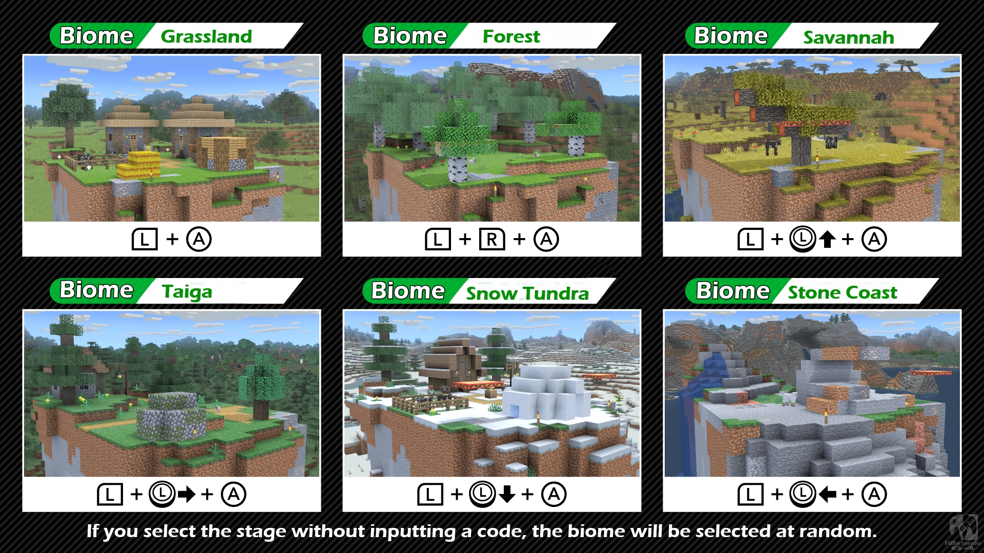 Minecraft World Biome Select