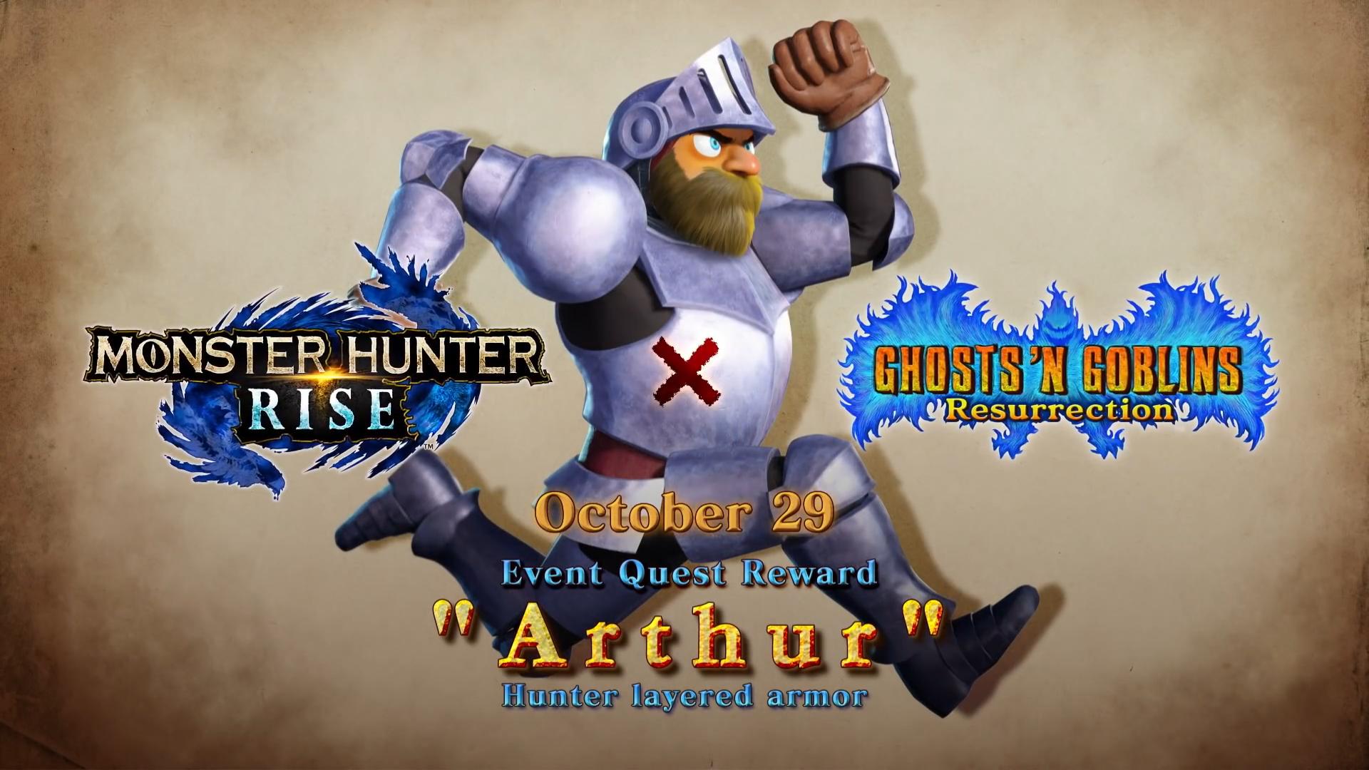 Monster Hunter Rise X Ghosts 'N Goblins